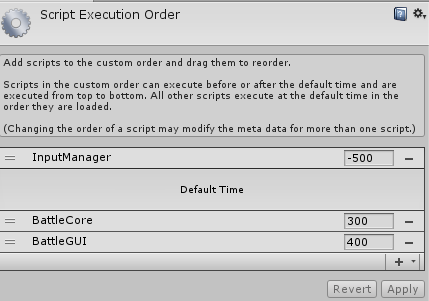 Script Execution Order